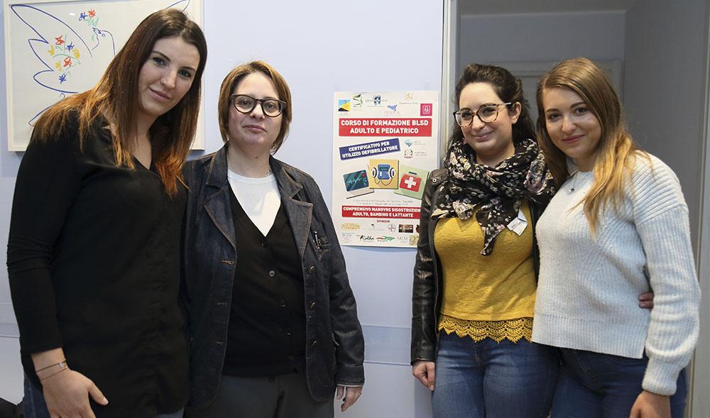 Da sinistra: Maria Teresa D'Agostino, Daria Caminiti, Martina Nicotra e Giorgia Pistorio